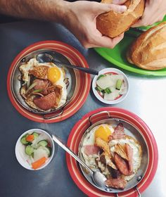 One of the best meals we had in Ho Chi Minh City was at Bánh mì Hoà Mã in District 3. We went for breakfast and ordered op la, a delicious dish made in small skillets. It's comprised of crispy fried eggs, a myriad of porky meats (including a mystery organ meat that was delicious), a salty sauce, ...