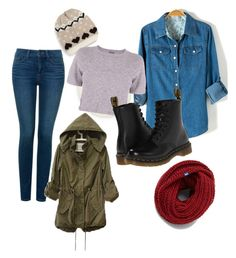 """""""Untitled #14"""" by rachel679 on Polyvore featuring BP., NYDJ, Monrow, Dr. Martens and Keds"""