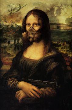 Still she insists on posing for the portrait [kalza] (Gioconda / Mona Lisa) Le Sourire De Mona Lisa, Mona Friends, Arte Van Gogh, Mona Lisa Smile, La Madone, Mona Lisa Parody, Art Jokes, Photo Images, Italian Artist