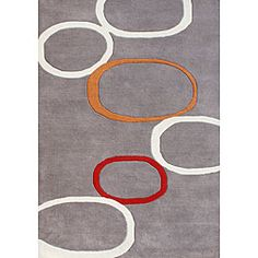 @Overstock - This floor rug features 100-percent blended wool. Custom-dyed yarns that are hand-tufted and hand-carved make this rug a piece of art on the floor.  The Metro Circles rug features shades of grey, light grey, soft orange, and soft red.  http://www.overstock.com/Home-Garden/Hand-tufted-Metro-Circles-Grey-Blended-Wool-Rug-5-x-8/4817547/product.html?CID=214117 $173.69