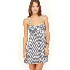 Roxy - Haucy Blue & Black Stripe Juniors Dress