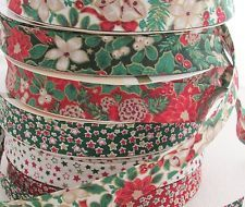 18mm CHRISTMAS PRINT bias binding for sewing & crafts ~ per metre