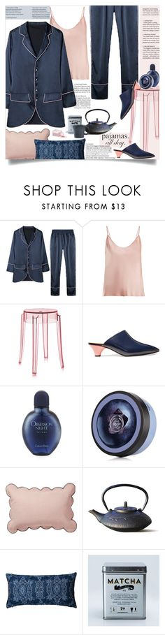 """Loungewear"" by marionmeyer ❤ liked on Polyvore featuring La Perla, Kartell, Marni, Calvin Klein, Old Dutch, Fiesta and LovelyLoungewear"