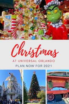 Christmas at Universal Orlando combines holiday tradition with the fantasy of Dr Seuss and Harry Potter. Find out why this is a great time of year to visit the parks and get top tips to make this your best Christmas vacation ever. #universalorlando #orlando #christmas