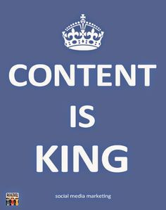 Content is King on Social Media Marketing #contentmarketing #socialmedia #marketing #quotes