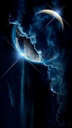 Planets Wallpaper, Wallpaper Space, Galaxy Wallpaper, Eyes Wallpaper, Animal Wallpaper, Earth And Space, Art Galaxie, Space Artwork, Space Space