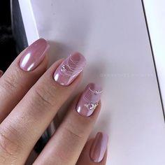 Nail Shapes - My Cool Nail Designs Pink Nail Art, Pink Nails, Glitter Nails, My Nails, Classy Nails, Stylish Nails, Trendy Nails, Minimalist Nails, Pretty Nail Colors