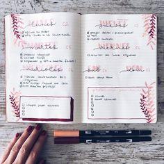 """2,290 Likes, 22 Comments - Bullet Journal & Studygram (@mylittlejournalblog) on Instagram: """"¿Aún no habéis planificado la próxima semana? Aquí os dejo mi bullet journal ✍️ El cuaderno es de…"""""""