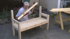 Wooden Furniture, Furniture Design, Outdoor Furniture, Outdoor Chairs, Outdoor Decor, Bench, Neon, Home Decor, Google
