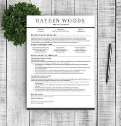 resume template for word 1 2 by resumetemplateshoppe on etsy