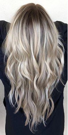 Bright blonde.