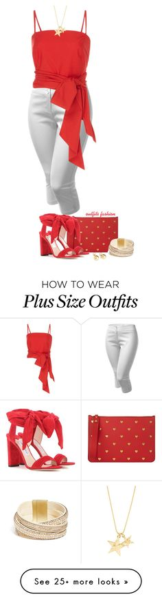 """Red & white"" by outfitsfashion4 on Polyvore featuring J.TOMSON, MDS Stripes, Sophie Hulme, Jimmy Choo, Yoko London and GUESS"