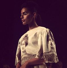 Photo: These stunning prints from #artivijaygupta at the Lakme Fashion Week #lakmefashionweek2014 With these beautiful prints, she recreates 17th century style on 21st century clothing. National Institute of Fashion Technology
