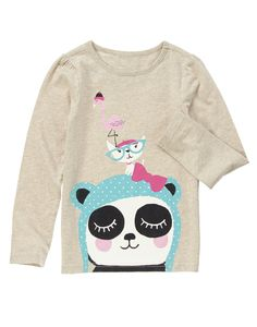 Glittery flamingo, puppy and panda pals for sweet fashion.