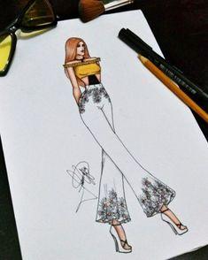27 Ideas Fashion Ilustration Croquis Art - Best Fashions for All Dress Design Drawing, Dress Design Sketches, Fashion Design Drawings, Fashion Sketches, Drawing Sketches, Fashion Sketchbook, Art Sketchbook, Fashion Drawing Dresses, Fashion Illustration Dresses