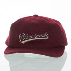 2574dec92 Abercrombie Fitch Vintage Wool Hat One Size Made USA Leather Strapback  Script