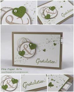 Stampin' up! Wedding Card, Hochzeitskarte - Fine Paper Arts