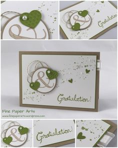 Stampin' up! Wedding Card, Hochzeitskarte - Fine Paper Arts