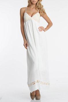 Isabel Lu Nikita Dress In Off White - Beyond the Rack