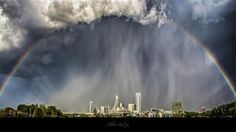 Charlotte, NC during a storm on March 24. Yes, this is a real shot, altered only for light and clarity.