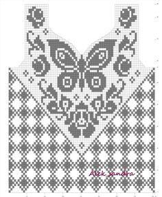 Sent from my BlackBerry Filet crochet shirt butterfly, bordeleta