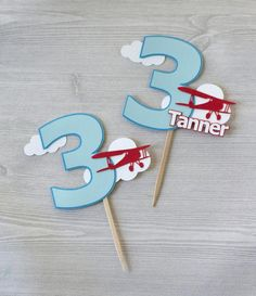 Planes Birthday Cake, Planes Cake, Baby Boy 1st Birthday Party, 1st Birthday Party Decorations, First Birthday Cakes, 3rd Birthday Parties, Third Birthday, Balloons And More, Personalized Cakes