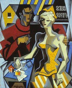 Jean Metzinger (French, 1883-1956) : Untitled (Café Scene) : 1919. Metzinger Estate, ARS, New York.