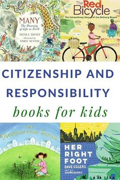 via Use this list of children's books about citizenship to teach kids about being a responsible citizen of the neighborhood and country that they live. Children's books about citizenship and responsibility including discussion starters. Citizenship Activities, Citizenship Education, Baby Education, Preschool Books, Mentor Texts, Character Education, Character Development, Kids Reading, Guided Reading
