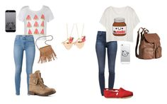 """""""SHOPPING IN PARIS WITH JADE"""" by shawnily on Polyvore featuring J Brand, Ally Fashion, TOMS, claire's, H&M and Patchington"""