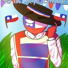 Made by: ig Chile, Stupid Memes, Hetalia, Balls, Kawaii, America, Superhero, Country, Fictional Characters