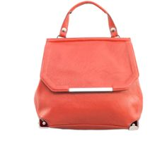 Nila Anthony's versatile vegan leatherette hand bag with top handle and removable back straps that allows the handbag to be converted into a backpack.
