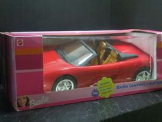 Barbie RC FERRARI F355 Mattel Remote Controlled Car Convertible 2000 #Mattel