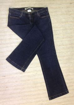 GAP 1969 LONG AND LEAN BOOT CUT Sz 12 MID RISE STRETCH JEANS ACTUAL 35X33 EUC E3 #GAP #BootCut