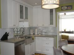 A teeny-tiny peek at FIR floors, refinished, in a traditional kitchen User Before/After
