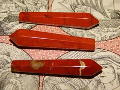 Genuine RED JASPER Single Terminated Crystal  by esoTERRAca