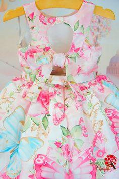 Vestido de Festa Infantil Petit Cherie Borboletas