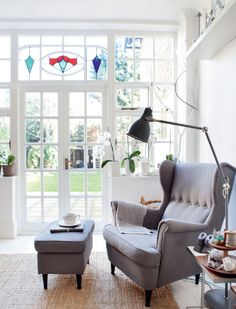 Nordic style in London: IKEA armchair in the living room