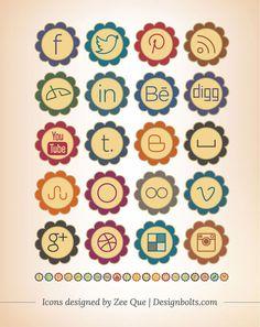 20-Free-Retro-Vintage-Style-Social-Media-Icons-2013-Set-For-Preety-&-Girly-Blogs