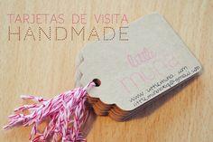 Tarjetas de visita handmade Little Muna. 2012