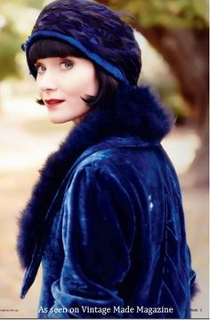"The ""Miss Fisher""s Murder Mysteries"" series, aired on the ABC, features costumes designed by Marion Boyce, for the character of Phryne Fisher. The series is set in 1920s Melbourne and the 1920s fashions are a delight to behold. This article and images feature in Vintage Made #2.:"