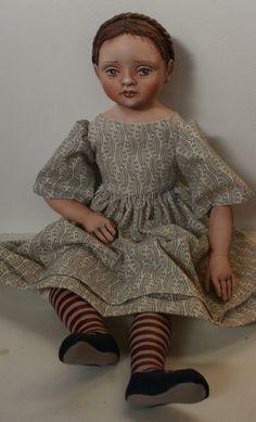 Lisbeth by cloth doll artist Susie McMahon