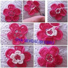 Crochet Small Flower, Love Crochet, Beautiful Crochet, Crochet Flowers, Crochet Purses, Crochet Accessories, Small Flowers, Poppies, Diy And Crafts