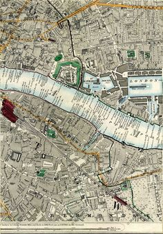 Click Here For An Enlarged Map Image Old Maps Of London, London Map, Old London, Uk History, London History, Vintage Maps, Antique Maps, Historical Maps, Historical Pictures