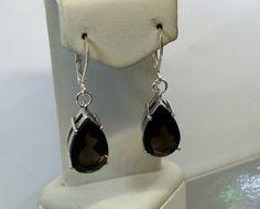 Vintage Ohrhänger - Ohrringe Ohrhänger Rauchquarz Silber 925 rar SO199 - ein Designerstück von Atelier-Regina bei DaWanda