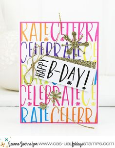 A Kept Life: CAS-ual Fridays Stamps May Release - Celebrate & Jumping Jacks #CARD #cardmaking #celebrate #casualfridays #stamp #stamping #background #birthday #diycard #papercrafting #tag #handmade