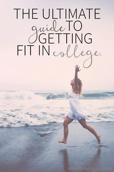 Check out these 22 easy ways that anyone can get fit in college - no matter how busy, stressed, or out of shape you are! Getting fit in college is attainable for all students!