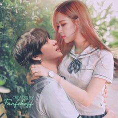 Foto V Bts, Taehyung, Foto Rose, Ulzzang Korea, Bts Girl, Korean Couple, Ulzzang Couple, Rose Photos, Couple Aesthetic