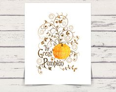 Halloween Typography Printable The Great Pumpkin by PIYDesigns, $4.95