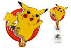 Pokemon Go Pikachu Inspired Decorative Badge Holder Real - https://www.amazon.com/gp/product/B01I1ZU5QE?ie=UTF8&tag=xn0ed-20&camp=1789&linkCode=xm2&creativeASIN=B01I1ZU5QE
