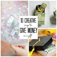 Graduation Gifts 10 Creative Ways to Give Money as a Gift, perfect for graduation or birthday gifts. Noel Christmas, Christmas Gifts, Holiday Gifts, Homemade Gifts, Diy Gifts, Creative Gifts, Unique Gifts, Little Presents, Idee Diy